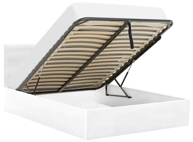 łóżko Stelaż Z Materacem 140cm Biały